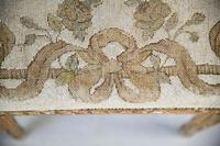 Square French Style Gilt Stool (5 of 7)
