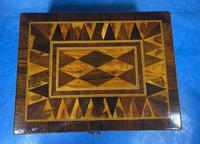 George III Rosewood Tunbridge Ware Box with Specimen Wood Inlay (3 of 15)