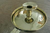 Antique Brass Georgian Chamberstick Pearson Page Candlestick c.1910 (7 of 11)