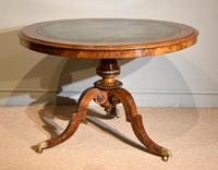 Regency  Library  Table / Centre Table Burr Yew (4 of 7)