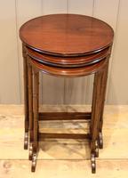 Circular Mahogany Nest of Three Tables (5 of 9)