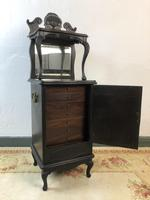 Antique French 7 Drawer Collectors Cabinet Jewellery Armoire Bijouterie (4 of 12)