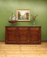 Solid Antique Georgian Style Oak Dresser Base Sideboard, Titchmarsh & Goodwin
