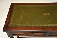 Antique Leather Top Oak Writing Table / Desk (7 of 10)