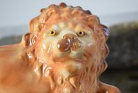 Large 19th Century Staffordshire Pottery Lions (7 of 10)