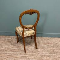 Elegant Set of 6 Victorian Walnut Antique Dining Chairs (4 of 9)
