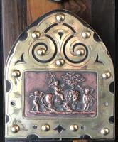 Victorian  Coromandel , Copper and  Brass  Book Slide. (3 of 6)