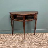 Elegant Demi Lune Tambour Front Antique Side Table (2 of 6)