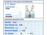 3.45ct Opal & 0.27ct Diamond, 22ct Yellow Gold Necklace - Antique c.1890 (7 of 9)