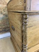Fabulous 19th Century Pine Trunk with Carved Decoration (3 of 6)