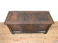 18th Century Carved Oak Blanket Box (2 of 11)