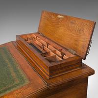 Antique Davenport, English, Walnut, Bird's Eye Maple, Writing Desk, Victorian (9 of 12)