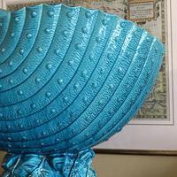 Burmantofts Faience Turquoise Glazed Shell Jardiniere (2 of 12)
