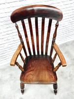 19th Century Lincolnshire Windsor Lathback Armchair (4 of 10)