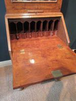 Small Antique Burr Walnut Bureau Bookcase (11 of 12)