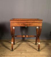 Stunning French Charles X Walnut Library Writing Table (4 of 16)