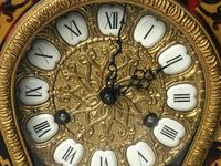 Large Fine Louis XVI Style Gilt Ormolu Marquetry Boulle Mantle 8 Day Clock (3 of 12)