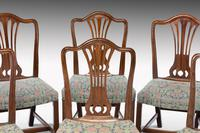 Attractive Set of 10 (8+2) Camel Backed Mahogany Framed Chairs (6 of 7)