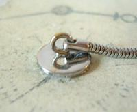 Vintage Pocket Watch Chain 1970s Silver Chrome Snake Link With Dog Clip & Button Hole Fob (7 of 7)