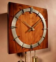 1960s Style Kienzle Walnut Brass Wall Clock (6 of 7)