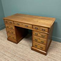 Victorian Walnut Antique Pedestal Desk (5 of 8)