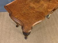 Serpentine Fronted Queen Anne Style Burr Walnut Side Table (11 of 16)