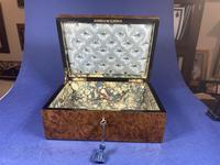 19th Century French Burr Cedar Inlaid Box (2 of 11)