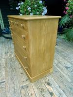 Beautiful Old Pine Chest Of Six Drawers / Sideboard (4 of 8)