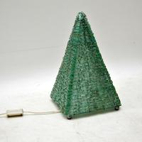 1960's Vintage French Glass Pyramid Table Lamp (4 of 6)