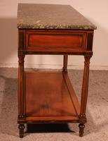 Louis XVI Console in Cherrywood, 18th Century Stamped LM Pluvinet (12 of 15)