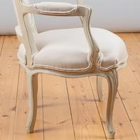 Pair of Large French Louis XV Style Painted Upholstered Armchairs (7 of 9)