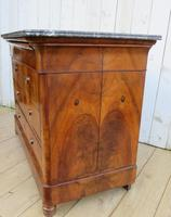 Antique Burr Walnut & Marble Top Chest Of Drawers (5 of 9)