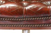 Leather Upholstered Mahogany Desk Chair (2 of 9)