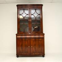 Antique French Walnut Bookcase on Cupboard (2 of 11)