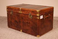 English Travel Chest in Leather - Early 20th Century (7 of 11)