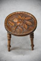 Carved Country Tripod Stool (5 of 9)