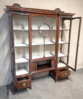Edwardian Carved Mahogany Display Cabinet / China Cabinet (6 of 13)