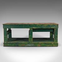 Large Antique Factory Work Table, English, Pine, Industrial, Mill, Victorian (6 of 10)