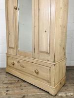 Antique Pine Wardrobe with Mirror (9 of 11)