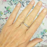 Vintage Art Deco Plain Platinum Wedding Band c1930's ~ Ladies narrow ring size O 1/2 - 7.25 (2 of 9)