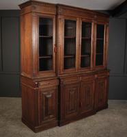 Large French Oak Breakfront Bookcase (16 of 19)