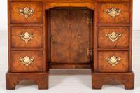 Georgian Style Walnut Kneehole Desk (5 of 10)