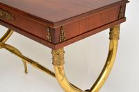 Antique Neoclassical Walnut & Brass Writing / Side Table (12 of 16)