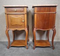 Pair of French Antique Walnut Bedside Cupboards / Night Stands c.1910 (5 of 9)
