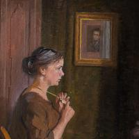 Robert Panitsch, Interior Scene with Pensive Woman (2 of 10)