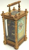 Fine Antique French 8-day Fleur De Lis Decorated Panel 8-day Carriage Clock Timepiece c.1890 (4 of 10)