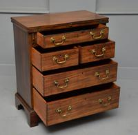 Small Georgian Mahogany Bachelors Writing Chest of Drawers with Provenance (9 of 24)