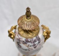 Antique Mantle Clock Set Garniture French Empire Urns (3 of 27)