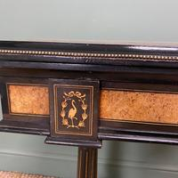 Victorian Ebonized and Walnut Antique Games Table (7 of 9)