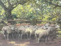 "Edwardian Pastel Painting ""The Sheepfold"" By John Robert Keitley Duff RI RA Rse (3 of 34)"